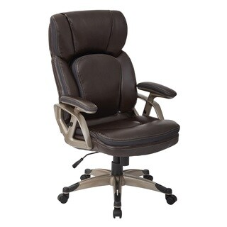Chestnut Bonded Leather With Cocoa Nylon Base Executive Chair