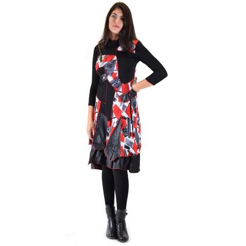 Premise Women's Multicolor Acrylic/Viscose Mid-length Long-sleeved Dress