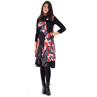 Premise Women's Multicolor Acrylic/Viscose Mid-length Long-sleeved Dress (4 options available)
