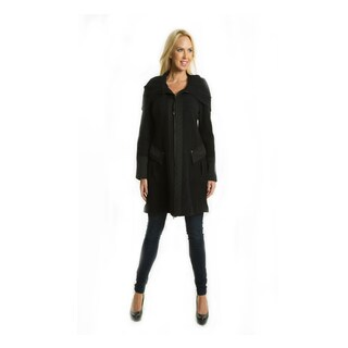 Premise Women's Military-style Long Black Boiled Wool Coat|https://ak1.ostkcdn.com/images/products/11882306/P18779123.jpg?_ostk_perf_=percv&impolicy=medium