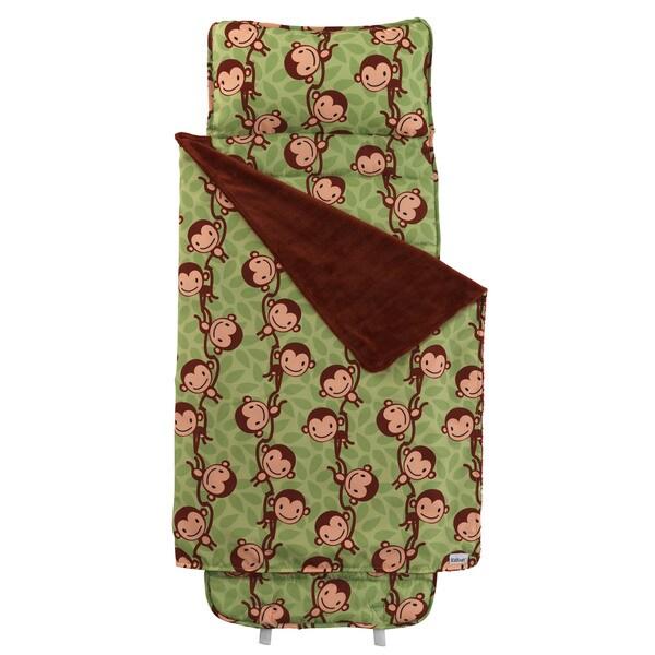 KidKraft Green and Brown Monkey Nap Mat