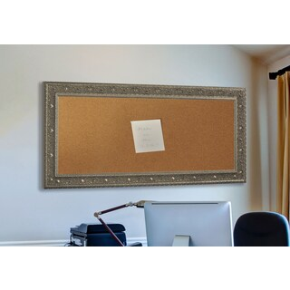 American Made Rayne Opulent Silver Corkboard (More options available)