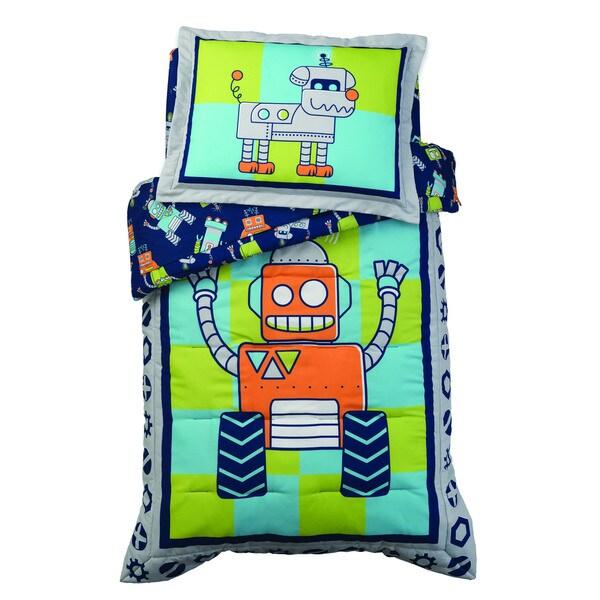 KidKraft Robot 4-piece Toddler Bedding Set