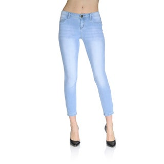 Women's Light Blue Wash Stretch Denim Ankle Pant
