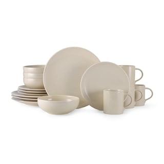 Mikasa Benson Beige Ironstone 16-piece Dinnerware Set