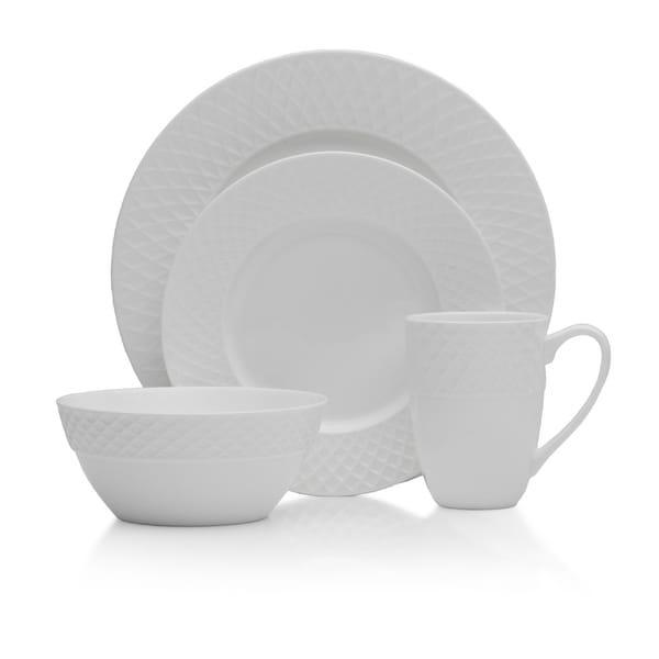 Shop Mikasa Trellis White Bone China 16 Piece Dinnerware Set Free
