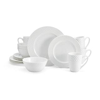 mikasa trellis white bone china 16piece dinnerware set