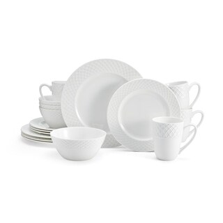 Mikasa Trellis White Bone China 16-piece Dinnerware Set