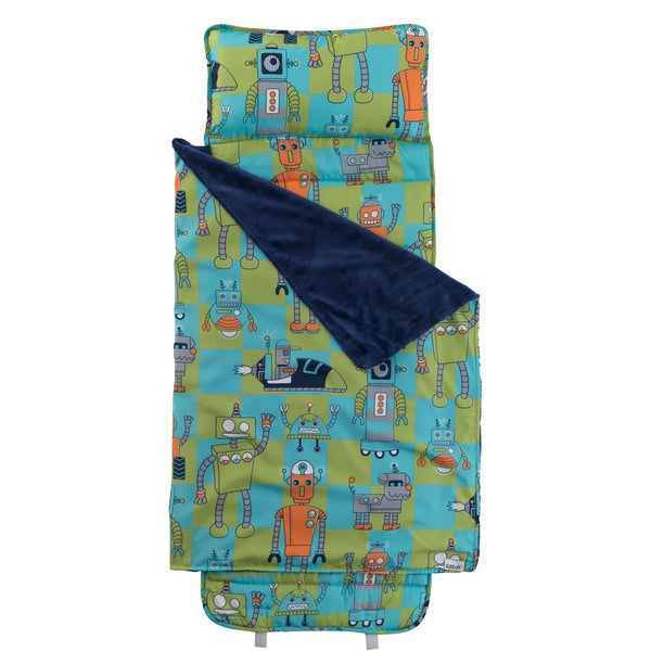 Green and Blue Robot Nap Mat