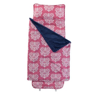 Pink and White Damask Nap Mat