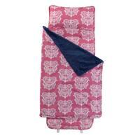 Pink and White Damask Nap Mat