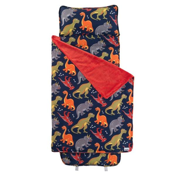 Blue and Red Dinosaur Nap Mat