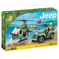 Cobi Willys MB Army Jeep With Helicopter-building Kit