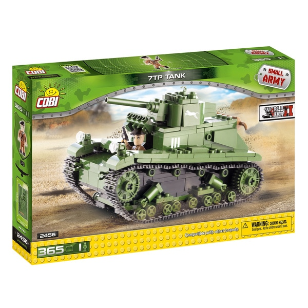 COBI Small Army Polish 7TP Multicolor Plastic Tank Building Kit