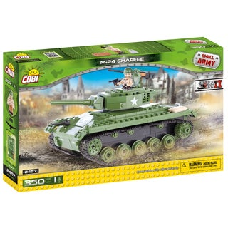COBI Small Army American Multi-color Plastic M-24 Chaffee Building Kit