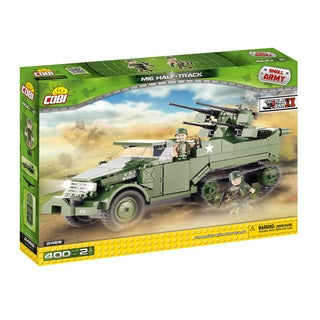 COBI M16 Half-Track Multi-color Plastic Small WWII Army Vehicle