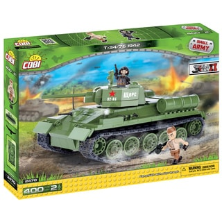 COBI Small Army T34/76 Multicolored Plastic 1942 Tank Block Set