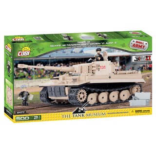 COBI Small Army PZKPFW VI Multi-color Plastic Tiger 131 Tank Building Set