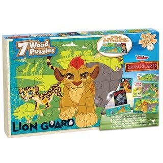 'The Lion Guard' 7 Wood Jigsaw Puzzles With Storage Box