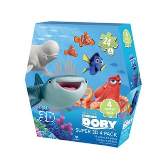 Disney Pixar 'Finding Dory' Super 3-D Puzzles (Pack of 4) https://ak1.ostkcdn.com/images/products/11882407/P18779212.jpg?impolicy=medium