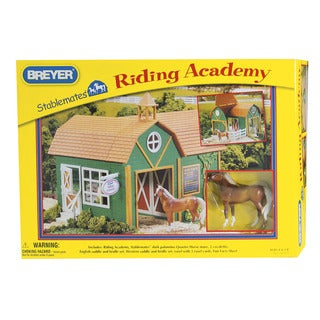 Breyer Stablemates Riding Academy Multi-color Plastic Horse Barn