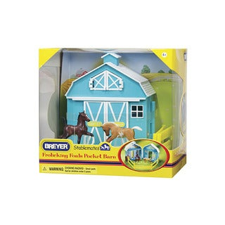 Breyer Stablemates Plastic Frolicking Foals Pocket Barn