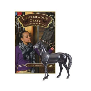 Breyer Canterwood Crest 'Behind the Bit' Novel/Black Jack Model Set