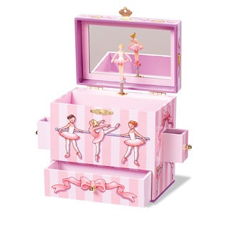 Enchantmints Ballet Class Pink 4-drawer Music Box