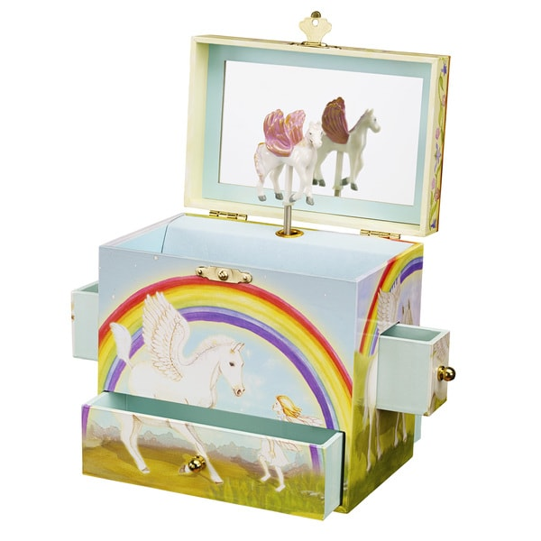 Enchantmints Pegasus Multi-colored Musical Jewelry Box