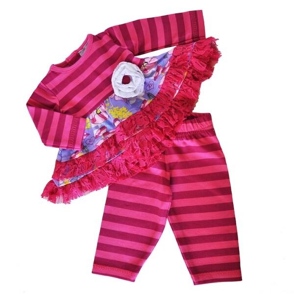 Shop Ann Loren American Girl Pink Yellow And Purple Cotton Floral
