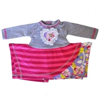 AnnLoren American Girl Heather Grey Cotton Striped Heart Doll Outfit