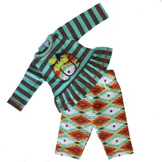 AnnLoren Blue Aztec Thanksgiving Pumpkin Patch Doll Outfit (Fits American Girl Dolls) (Option: Green)