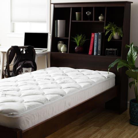 Twin XL Dorm University Soft Spa Luxe Plush Cool Touch Tencel Blend Mattress Pad - White