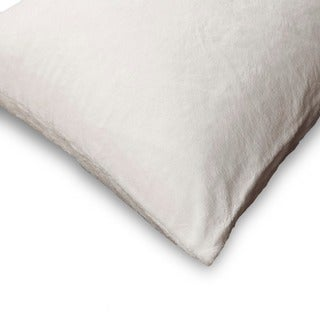 Sleep Calm Pillow Protector with Stain and Dust Mite Defense - White