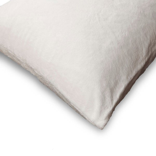 "Bedding Essentials Zippered Cotton Pillow Protectors 2pack King  20/"" X 36/"""