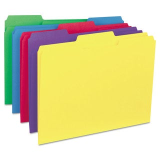 Universal Assorted Recycled Interior File Folders (Box of 100)