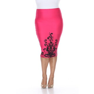 Women's Mark Cynthia Polyester/ Spandex Pencil Skirt