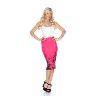 White Mark Women's Cynthia Polyester and Spandex Pencil Skirt