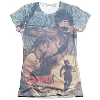 Rambo:First Blood Ii/Bow Action Short Sleeve Junior Poly/Cotton Crew in White