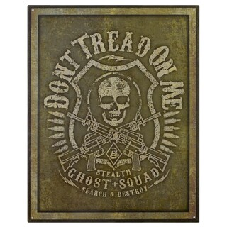Vintage Metal 'Ghost Squad- Don't Tread on Me' Decorative Tin Sign