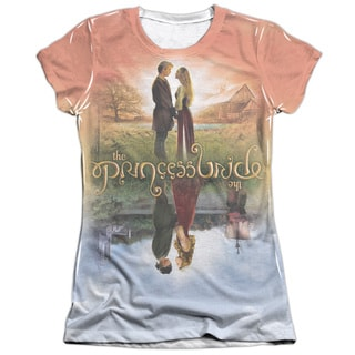 Princess Bride/Poster Sub Short Sleeve Junior Poly/Cotton Crew in White