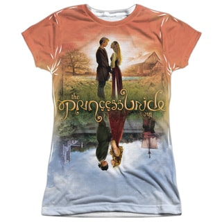 Princess Bride/Poster Sub Short Sleeve Junior Poly Crew in White