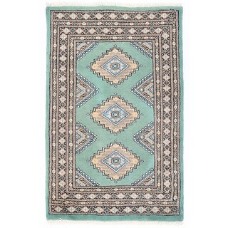 Herat Oriental Pakistani Hand-knotted Bokhara Wool Rug (2'1 x 3'4)