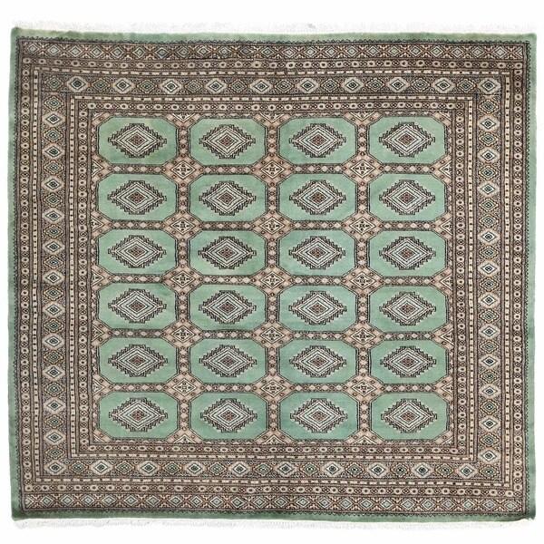 Shop Herat Oriental Pakistan Hand Knotted Bokhara Red: Shop Herat Oriental Pakistani Hand-knotted Bokhara Wool