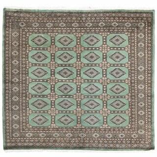 Herat Oriental Pakistani Hand-knotted Bokhara Wool Rug (6'3 x 6'7)