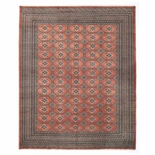 Herat Oriental Pakistani Hand-knotted Bokhara Rust/ Ivory Wool Rug (8'1 x 10'2)