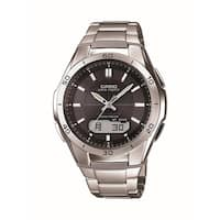 Casio Mens Wave Ceptor Analog-Digital Stainless Steel Bracelet Watch