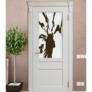 Hairstyle for girls Wall Art Sticker Decal Brown