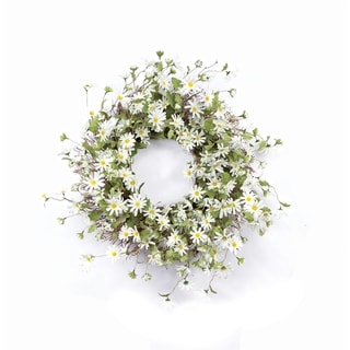 Daisy Indoor/Outdoor Artificial Wreath