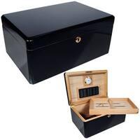 Cuban Crafters Colores Black Ebony/Cedar 100-cigar Humidor